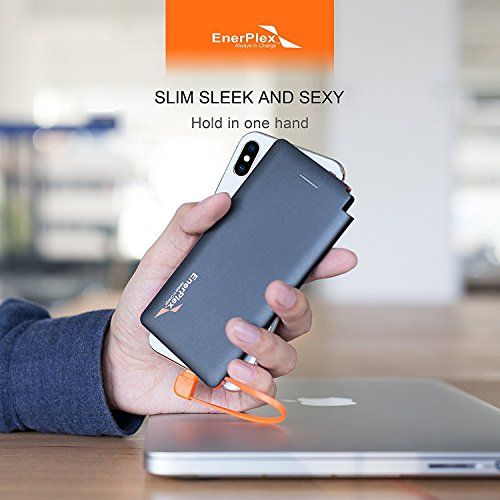 EnerPlex Jumpr Ultra SUPER SLIM POWER BANK w/ BUILT-IN LIGHTNING CABLE for Apple iPhone X, 8, 7, 6s, 6 Plus, iPad [MFi Certified], USB Cable for Samsung Galaxy S7, S6, S5, S8, and NOTE  https://topcellulardeals.com/product/enerplex-jumpr-ultra-super-slim-power-bank-w-built-in-lightning-cable-for-apple-iphone-x-8-7-6s-6-plus-ipad-mfi-certified-usb-cable-for-samsung-galaxy-s7-s6-s5-s8-and-note/  Jumpr Ultra ONE STOP POWER BANK CHARGER – Lightning with Apple MFi certified,