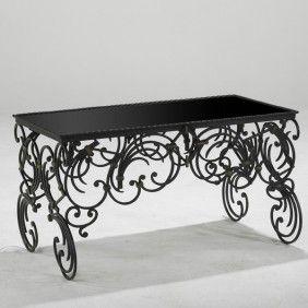 Michel Zadounaisky 1930u0027s French Wrought Iron Coffee Table