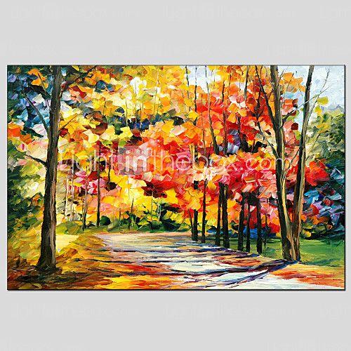 Handgemalte Abstrakte Landschaft Horizontal,Modern Europäischer Stil Ein Panel Hang-Ölgemälde For Haus Dekoration 2017 - €76.43