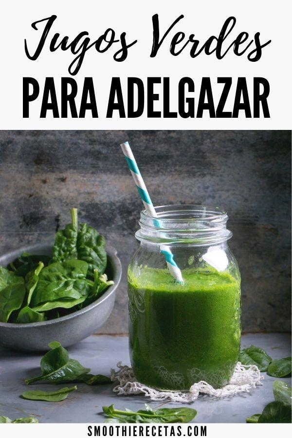 Jugos verdes para bajar de peso recetas de cocina