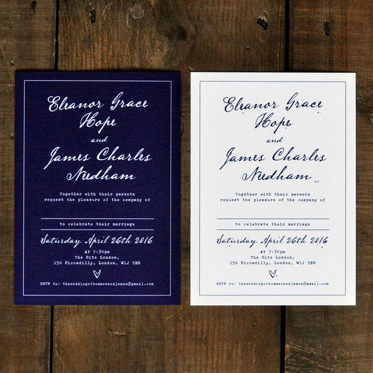 save the date wedding stationery uk%0A Fountain Pen  Wedding Invitation Set on Luxury Card  classic wedding  invites  u     save the date cards  Navy Wedding invitations UK