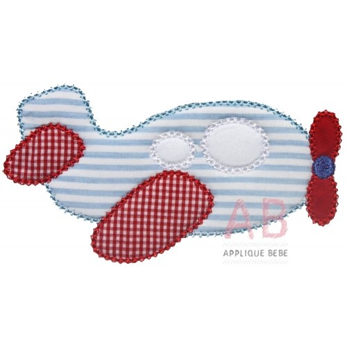 Cute Vintage Airplane Applique