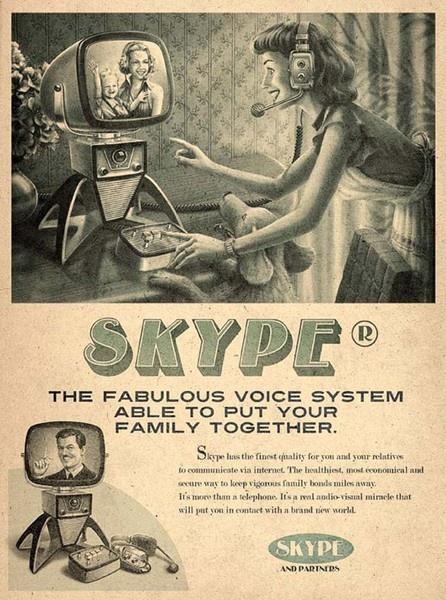 Skype: Vintage Posters, Social Media, Art, Advertising, Retro, Vintage Ads, Vintage Skype, Design