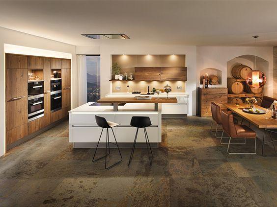 51 best küche images on Pinterest Kitchen modern, Kitchen ideas - kuche wohnzimmer offen modern