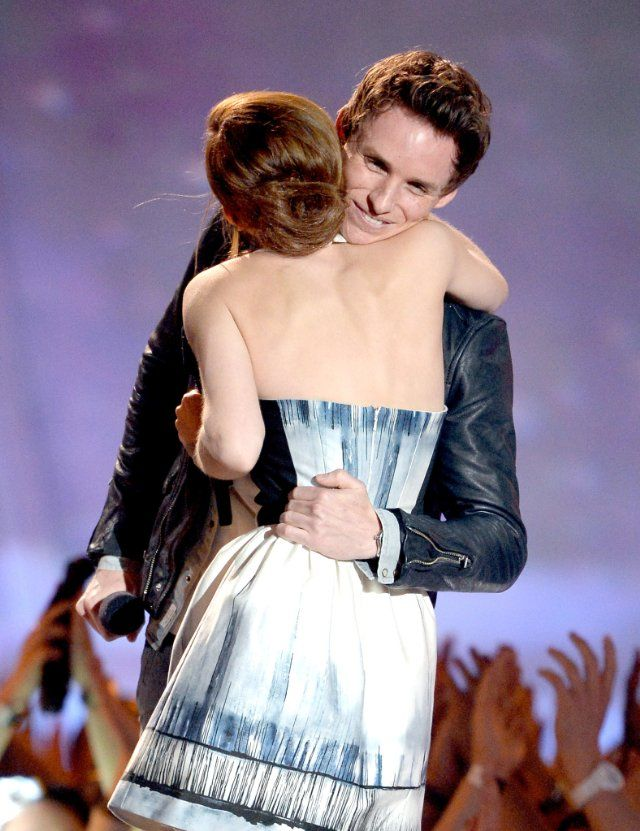 Emma Watson Hugs Eddie Redmayne