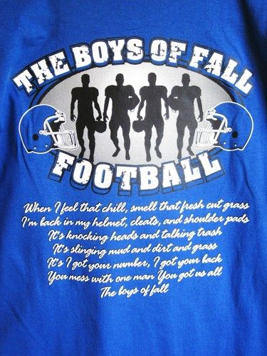 Royal Blue Unisex The Boys of Fall Football T-Shirt 2X, 3X, 4X | BlingItOnline - Clothing on ArtFire