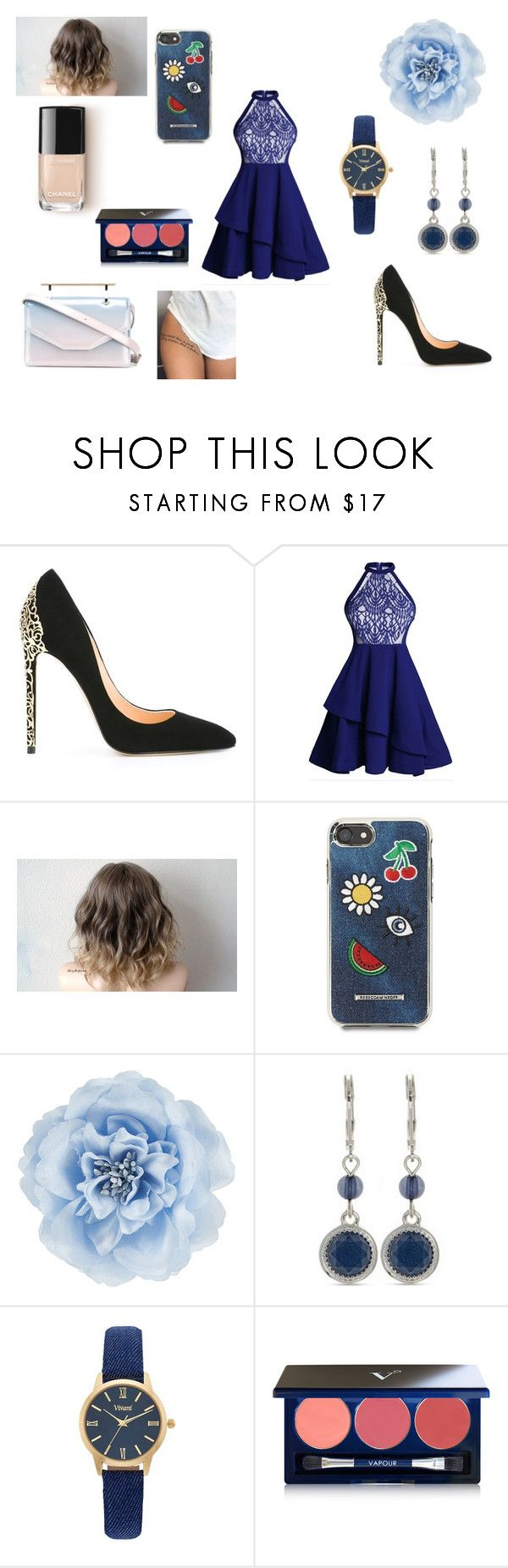 """""""Sans titre #2365"""" by amandine-collet ❤ liked on Polyvore featuring Cerasella Milano, Rebecca Minkoff, Monsoon, Nine West, Vivani, Vapour Organic Beauty and M2Malletier"""