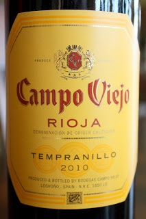 Campo Viejo Rioja Tempranillo 2010 - Aromas of ripe red fruit with spices and vanilla. Perfumed, soft and fresh.