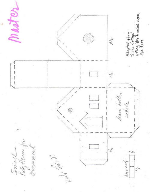 Templates for Putz Houses | Putz house ornament pattern | Flickr - Photo Sharing!