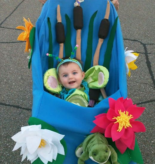 Flower Baby Stroller Halloween Costume by Chaos N Crafts and other adorable halloween stroller costumers!