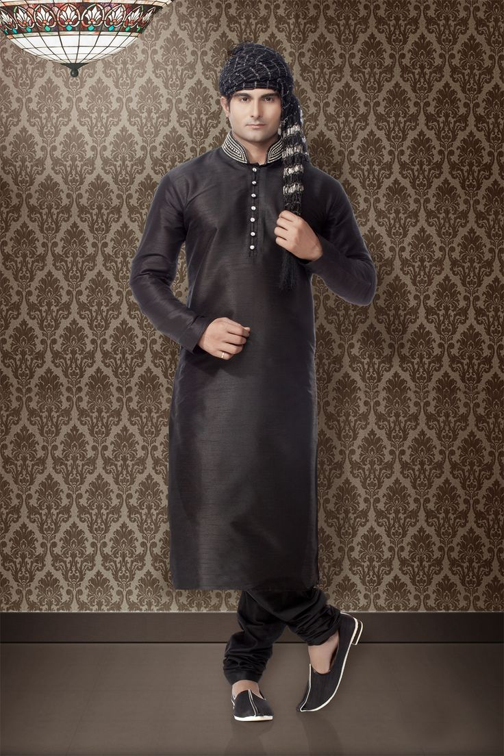 Groom kurta suits black wedding kurta designs asifa and nabeel men - Nihal Fashions Offers An Exclusive Collection Of Indian Kurta Pajama For Every Occasion Browse Through Our Wedding Collection Of Kurta Pick Your Choice
