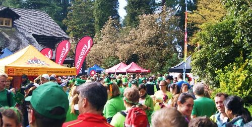 The St. Patrick's 5K Run after party in Stanley Park
