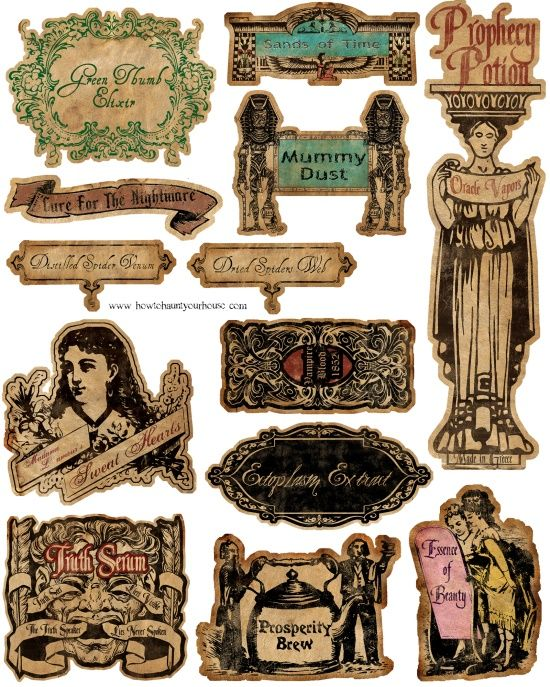 Some great potion labels here.
