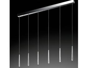 Hochwertige LED-Pendelleuchte - 6-flammig - LEDs inklusive - Dimmbar - 3 Oberflächen