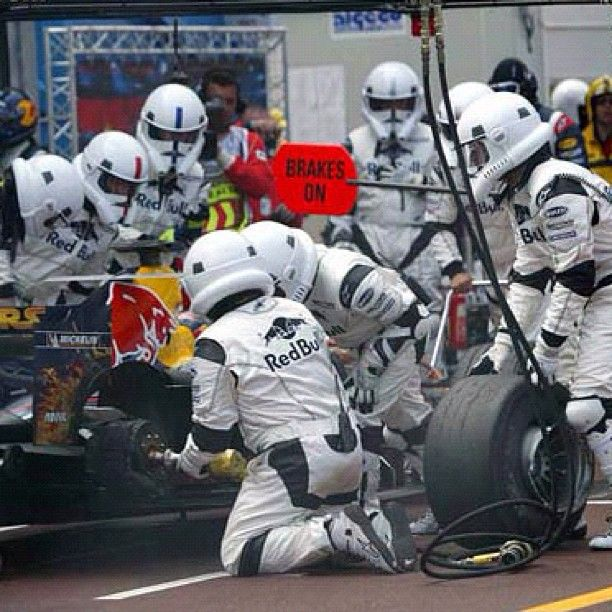 redbull's pit troopers