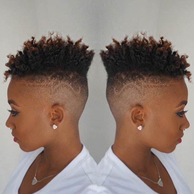 Natural, Fade Haircut for Black Women