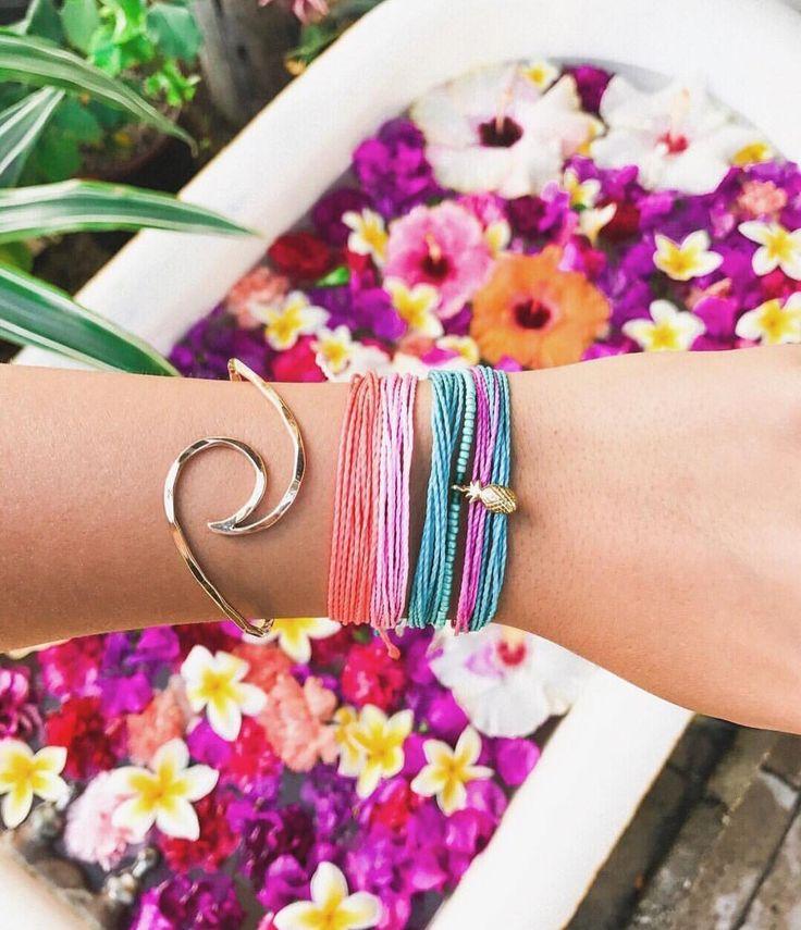 Charm Bracelet - Violet wild floral jungle by VIDA VIDA FjINeDymkR