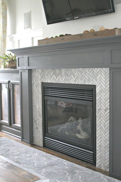 25 Best DIY Fireplace Makeovers | Sarah from Thrifty Decor Chick
