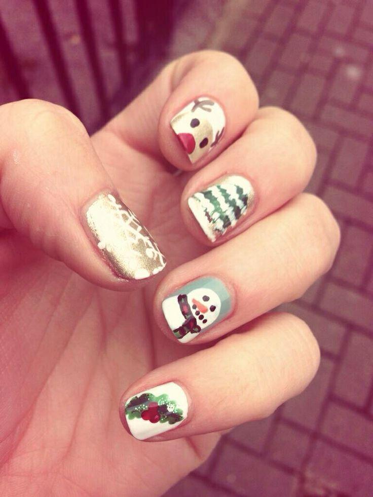 Glo Fulham Christmas manicure