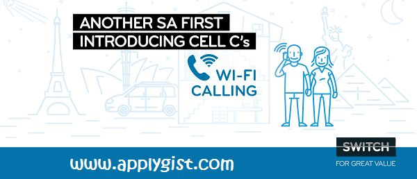 Latest Tech News- South Africa Cel C Wi-Fi CALLING