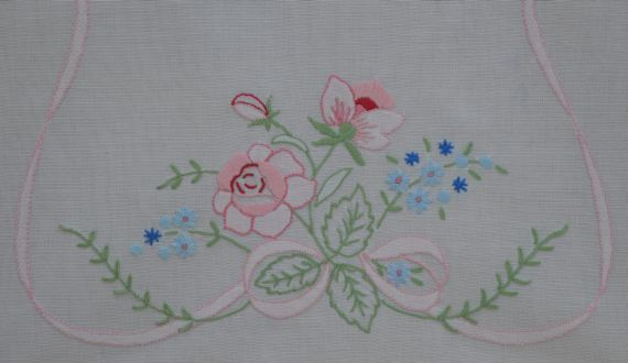 Shadow Embroidery Table Runner