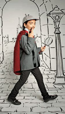 """Great literary costume ideas from our publisher, Scholastic: Sherlock Holmes, Milo from """"The Phantom Tollbooth,"""" Mary from """"The Secret Garden,"""" and more!"""