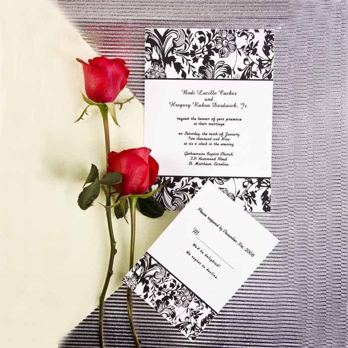 wedding invitations black and white