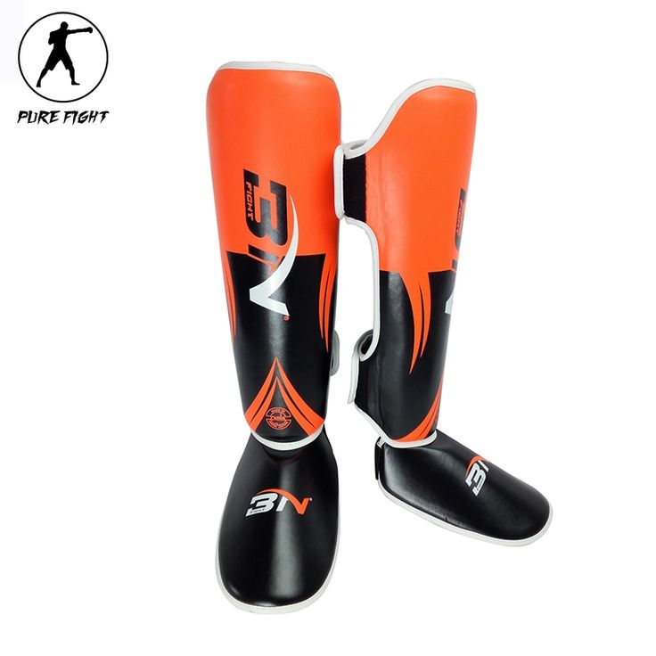 27.51$  Watch here - http://alii63.shopchina.info/go.php?t=32795352049 - 2017 New One Pair Boxing Shin Guards High Quality PU Leather Ankle Protector MMA Muay Thai Training Leg Warmers Strong Shin Pads  #magazine