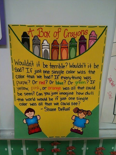 A Box of Crayons | Back-To-School Diversity Bulletin Board