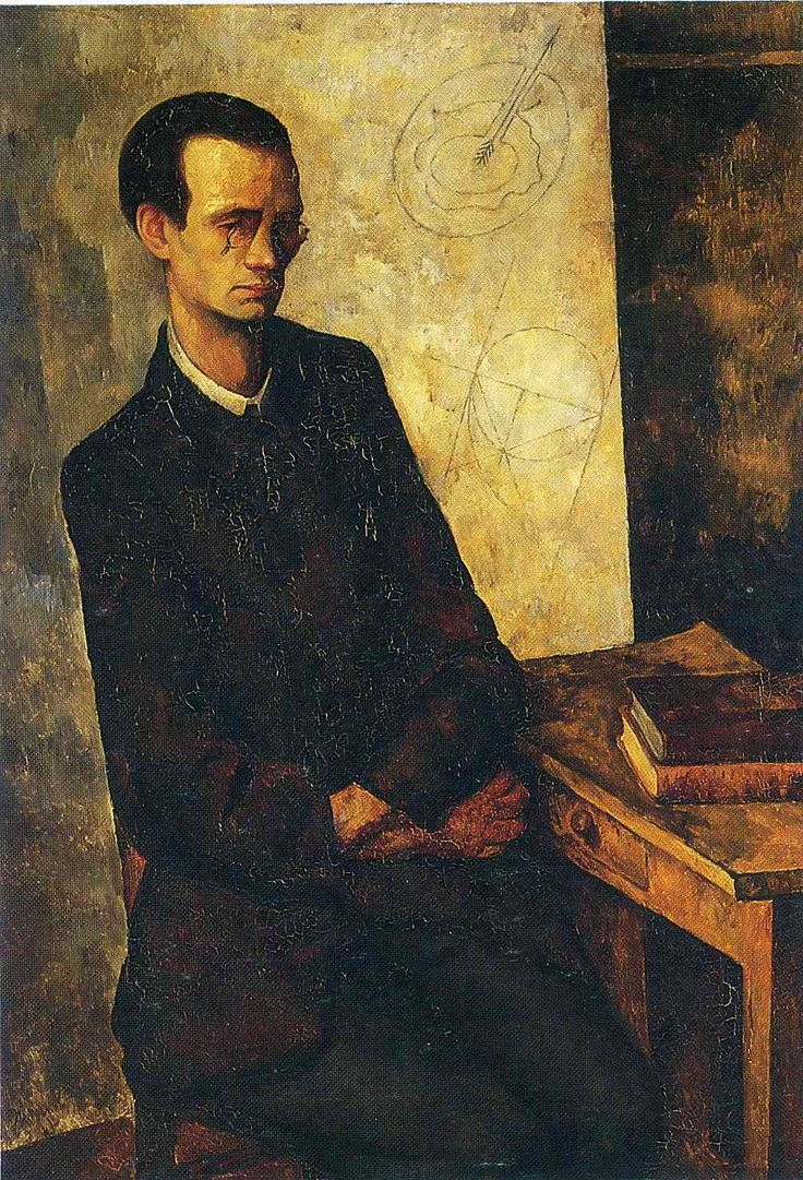 The Mathematician, 1918  Diego Rivera. Background colors i like