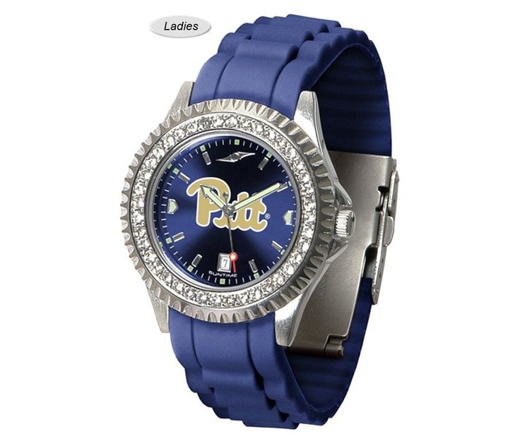 The Sparkle AnoChrome Pitt Panthers Watch is available in a Ladies style. Showcases the Panthers logo. Color-coordinated silicone band. Free Shipping. Visit SportsFansPlus.com for Details.