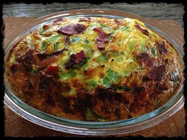 Recipe: Bacon and Leek Frittata using Thermomix | Pingheng