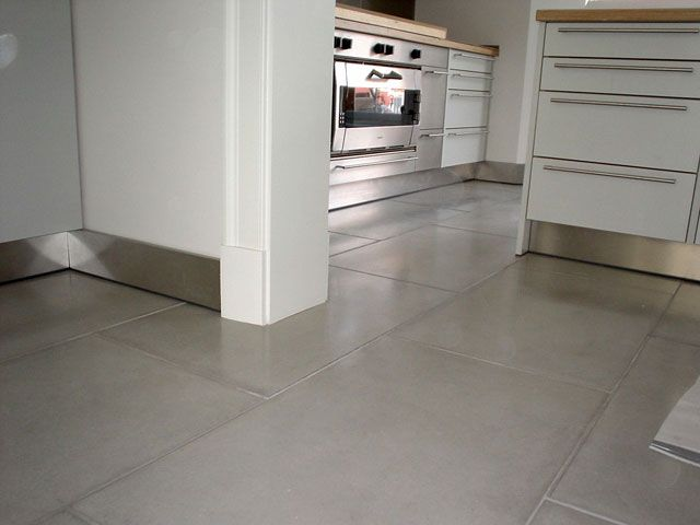 concrete floor tiles. Very nice for my kitchen