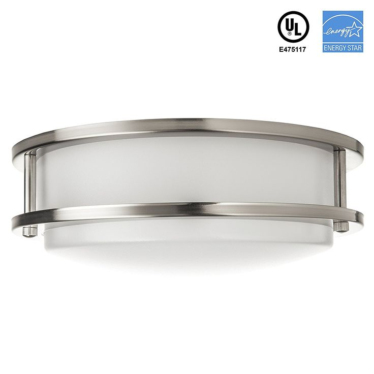 """Hyperikon LED Ceiling Light, 10"""", 15W (65W equivalent), 1100lm, 3000K (Soft White Glow), 120° Beam Angle, 120V, UL and ENERGY STAR Listed, 10-Inch Flush Mount, Dimmable, LED Bulbs - Amazon Canada"""