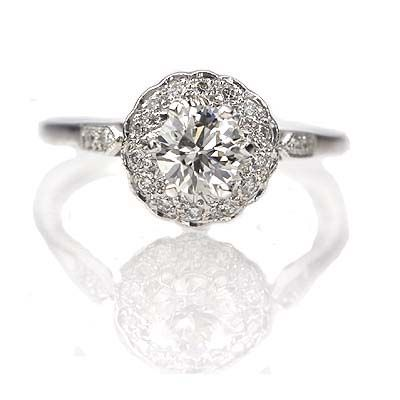 New York, NY Jewelry, engagement rings - Leigh Jay Nacht - Replica Victorian Enagement Ring - 3306-04