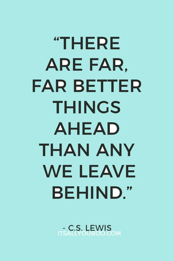 Better things are ahead.