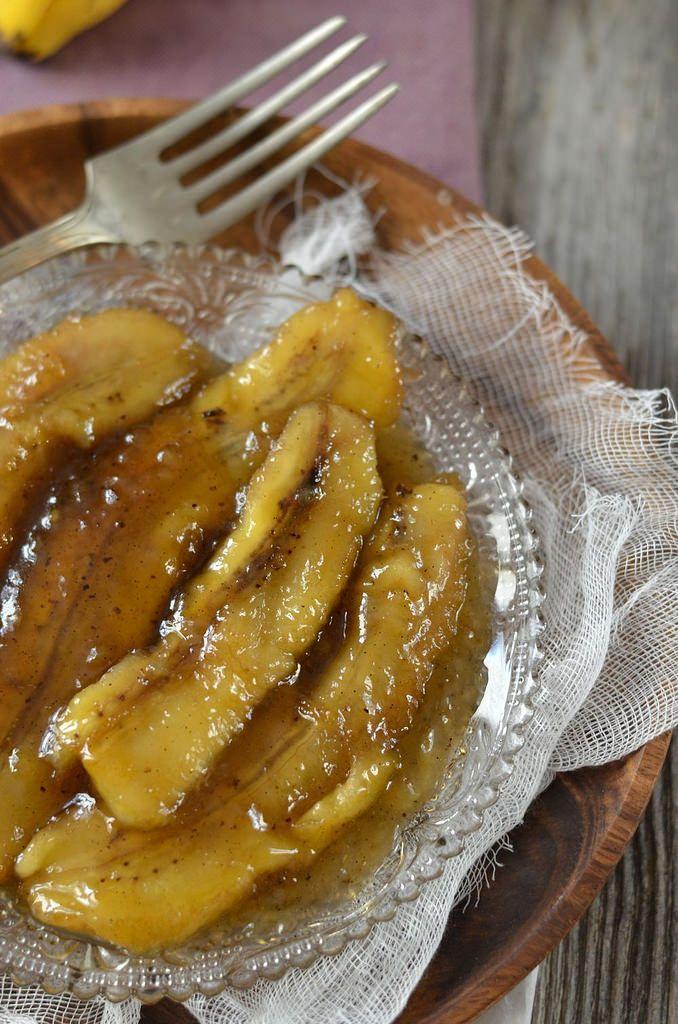 Banane flambée au rhum brun - Tangerine Zest