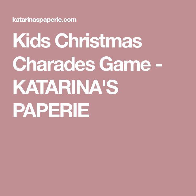 Kids Christmas Charades Game - KATARINA'S PAPERIE
