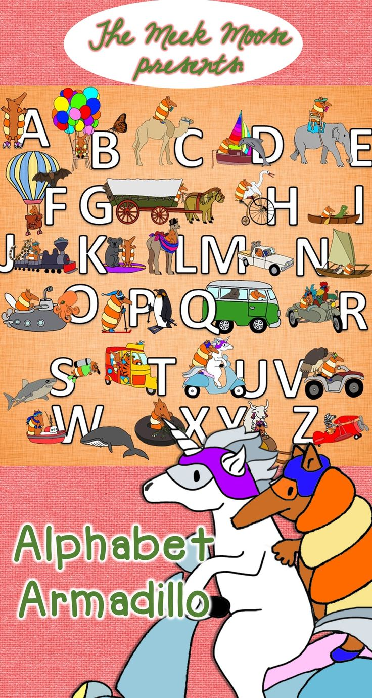 Excellent Images for an Alphabet Frieze. Just layer with your favorite font. This MEGA Armadillo Alphabet pack features our little buddy travelling with 26 companions, each representing a different letter of the alphabet.   Armadillo, Butterfly, Camel, Dolphin, Elephant, Flying Fox, Groundhog, Heron, Iguana, Jaguar, Koala, Llama, Meerkat, Nene Goose, Octopus, Penguin, Quokka, Rooster, Shark, Tiger, Unicorn, Vulture, Whale, Xenopus (frog), Yak, Zebra.