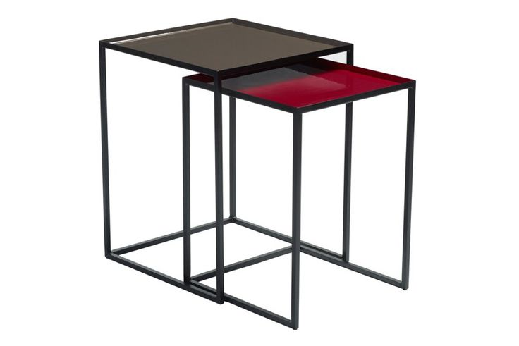 Mica Nest Side Tables Set of 2, Red and Grey by Content by Terence Conran on Clippings.com