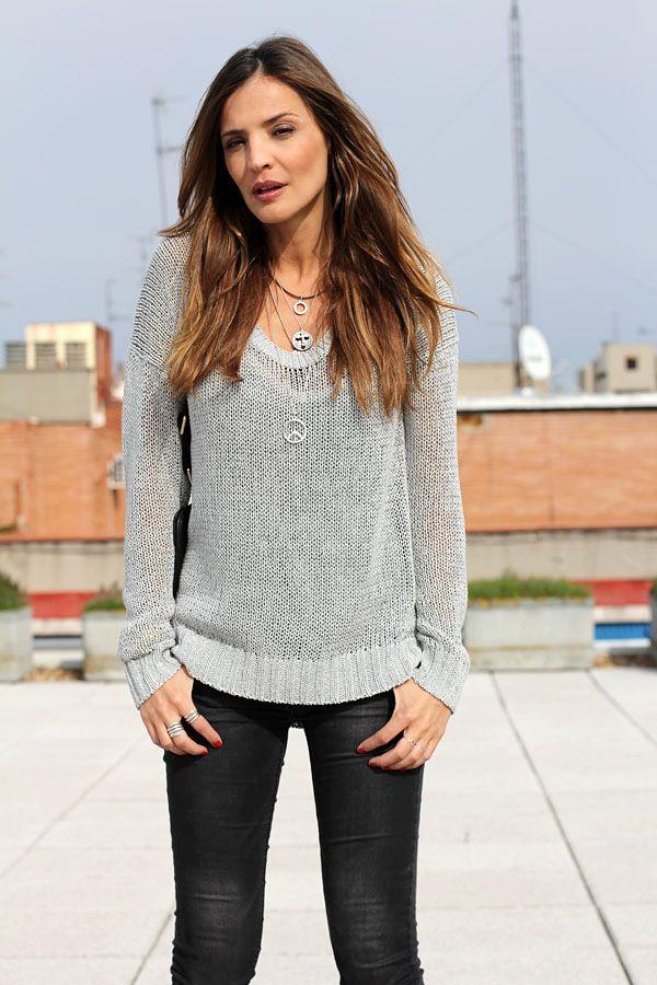 silver jumper   Lady Addict en stylelovely.com