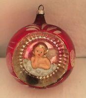 BIG Old Antique Vintage German Christmas Ornament INDENT ANGEL