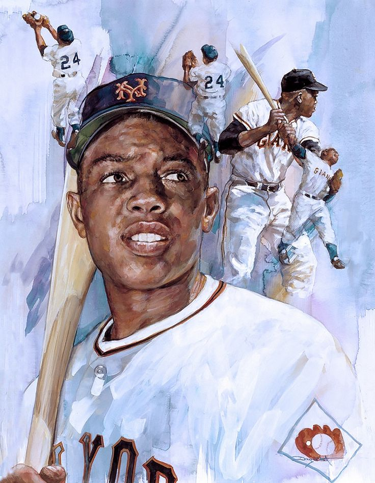 Willie Mays, NY Giants by Doug West