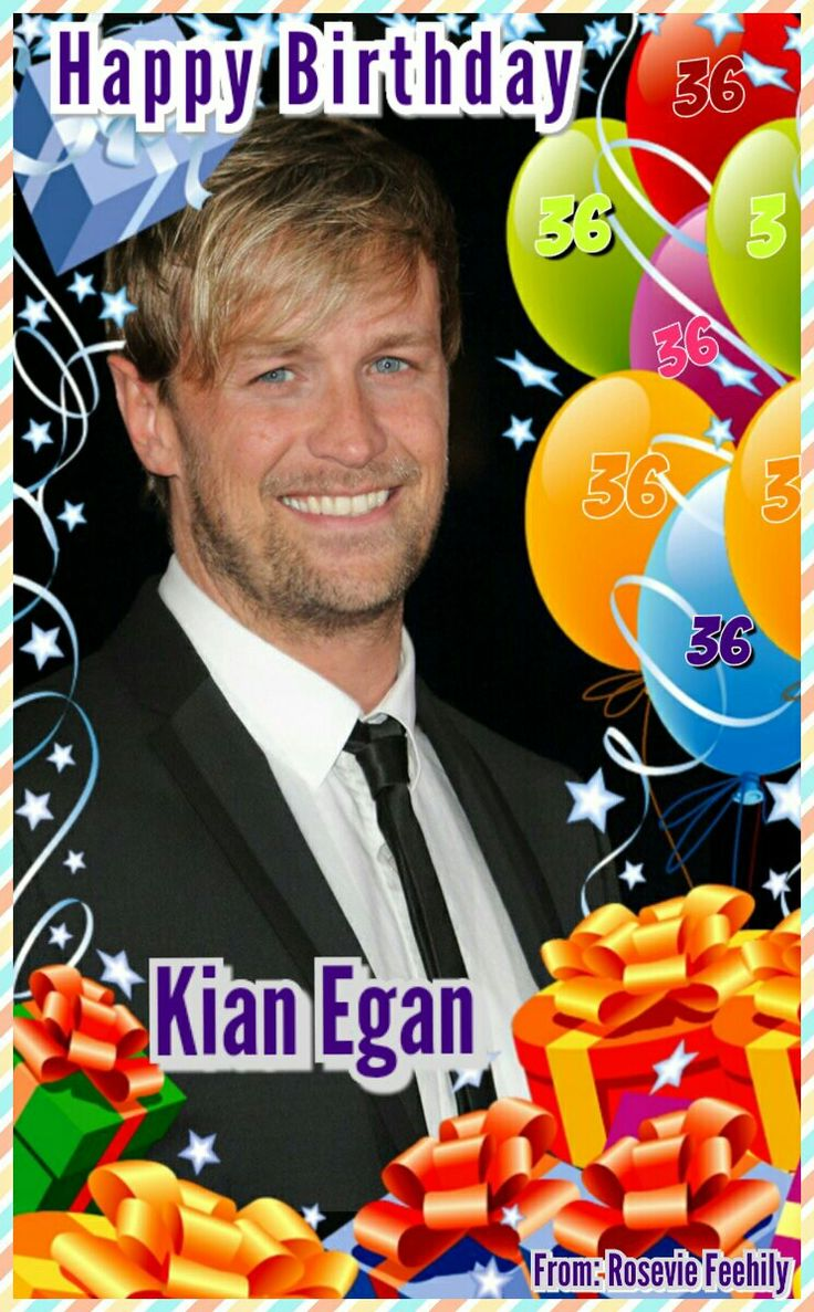 Kian Egan Happy Birthday 36'th Anniversary