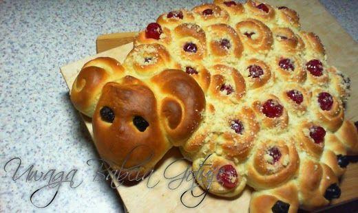 Uwaga Babcia Gotuje: Baranek Wielkanocny na słodko z Ciasta Drożdżowego