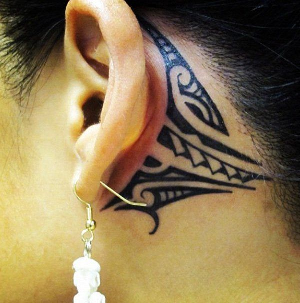 14 tribal ear tattoo - 30 Tribal Tattoos for Women | Art and Design