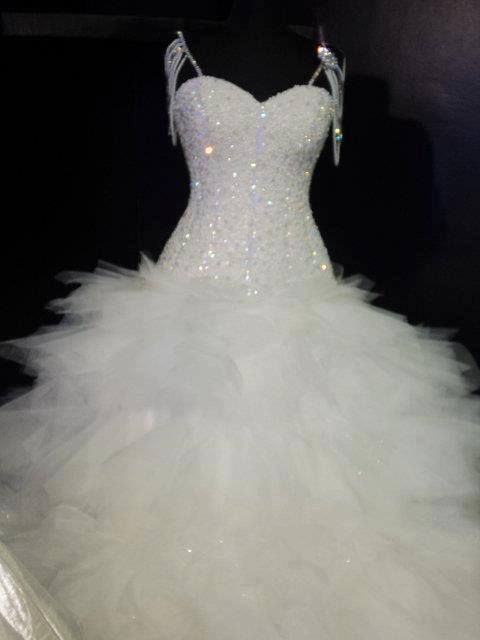 Sparkle Wedding Dress With Lots Of Crystals And Tool