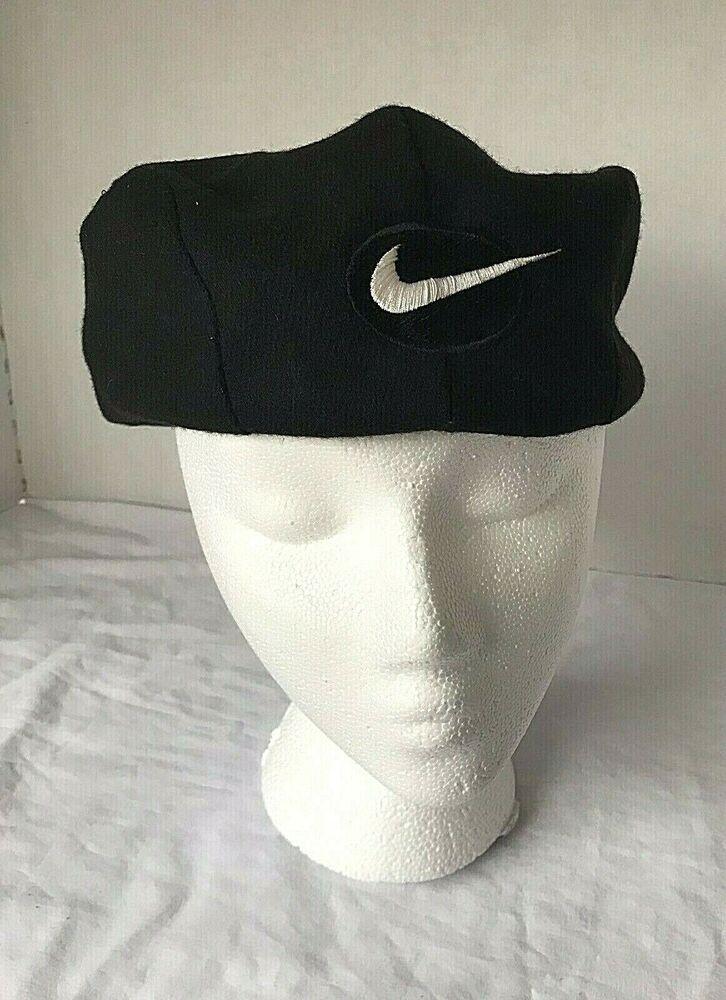 f808abba5 Nike Vintage Flat Cap Hat 90s Lg Cabbie Newsboy Golf Driving Snap ...