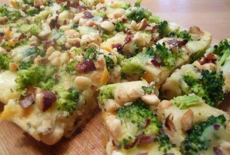 Polentarte de mimolette & comté aux brocolis et noisettes (sans gluten)