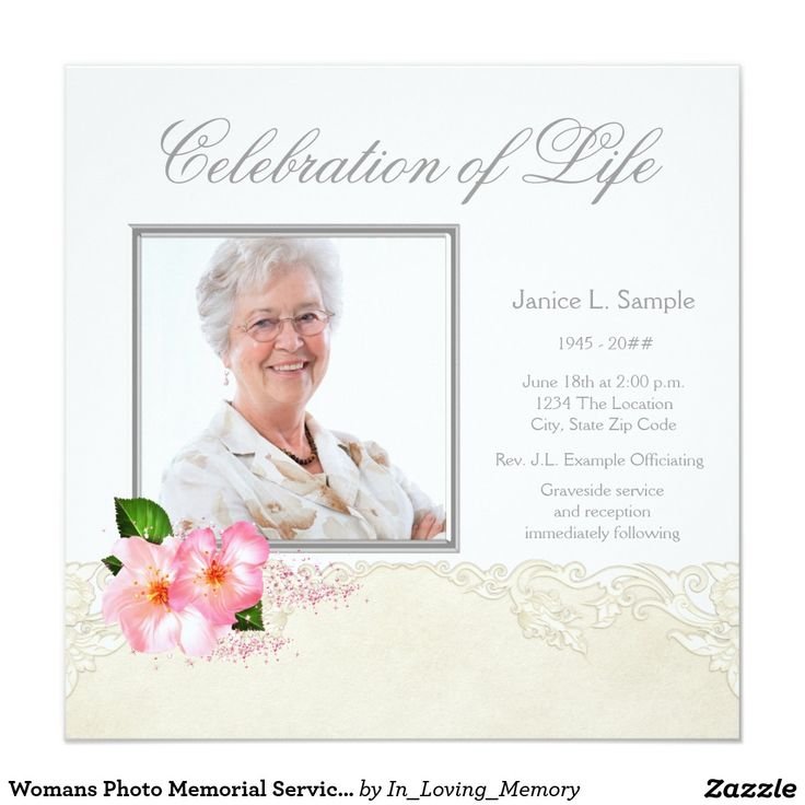 52 best Funeral Invitations Announcements images on Pinterest - invitation for funeral ceremony